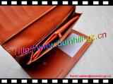 Бумажник женщин портмона PU кожаный длинний тонкий