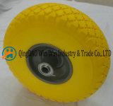 Плоское свободно колесо PU для покрышки ручной тележки (3.00-4/300-4)