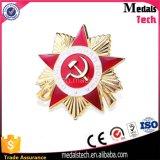 Distintivo magnetico personalizzato di Pin del risvolto della stella dello smalto della bandiera nazionale di marchio