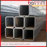 Fluss-Stahl-schwarzes Quadrat-Gefäß und Rohr