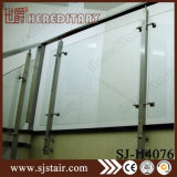 Corrimano di legno della scala balaustra dell'interno/esterna dell'acciaio inossidabile 304