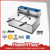16L escolhem a frigideira profunda elétrica do gás industrial resistente do aço inoxidável do tanque