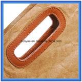 Sac à provisions de papier amical de papier fait sur commande de /Eco Tyvek de sac d'emballage de Dupont/sac à main intelligent de cadeau avec le traitement de cuir d'unité centrale