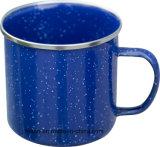 Sola taza/taza del esmalte del color con el borde/el borde inoxidables