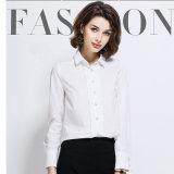 숙녀는 여자를 위한 최신 형식적인 긴 소매 셔츠 디자인을 모양 짓는다