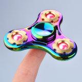 最も熱い虹の多彩な金属のおもちゃ手指の落着きのなさの紡績工