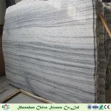 曇った灰色の大理石の平板の灰色の大理石のタイル