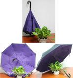 مظلة عكسيّة, [إينسد-ووت] مظلة, نقطة إيجابيّة - إلى أسفل مظلة