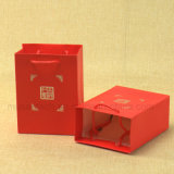Plata estampación pantone impresión en color Mini bolsas de papel para regalo / compras con PP manejar
