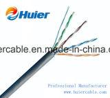 Cable de LAN torcido de 2 pares UTP Cat5e con los alambres de la potencia (2DC) y la chaqueta dual para las cámaras de seguridad