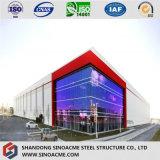 Costruzione prefabbricata chiara della struttura d'acciaio con la certificazione di qualità