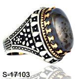 남자를 위한 자연적인 돌을%s 가진 최신 판매 구리 반지
