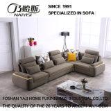 Sofá secional do projeto moderno com tela da alta qualidade da flanela para o quarto Furniture-Fb1148 da base do hotel