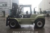 Heavy Duty 9.0t Capacité 9000kg Positionneur automatique de fourche Moteur diesel Lifting Forklift