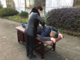 Madera Mesa de masajes parado con el Gabinete de Sm-005