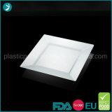 PS Parti jetables en plastique transparent/Salade/dîner/portion de la plaque de timbres