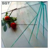 6m m templaron el vidrio de flotador claro para el uso del vector con el borde Polished redondo