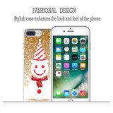 Lado de borracha desobstruído flexível brandamente magro de Ecute + do estilo caso traseiro duramente para o iPhone 7 positivo