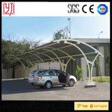 Barraca do estacionamento do carro de aço da máscara de Sun, Carports do metal com o telhado impermeável da folha