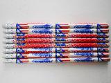 Crayon en bois de révolution de crayon d'HB de crayon avec la gomme à effacer