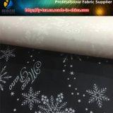 ジャケットのための雪片の印刷を用いるクリスマスポリエステルタフタ