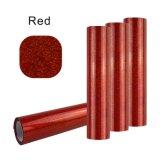 롤 크기 빨간 Giltter 열전달 PU 비닐