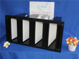 Фильтр печи HEPA крена стеклоткани бумажный v с пластичной рамкой