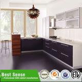 現代デザインの光沢度の高い最上質の食器棚