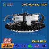 Personnaliser 100W l'éclairage élevé de compartiment d'UFO DEL avec la couverture de PC