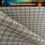 Transpirable de nylon / spandex hilado teñido de tela para ropa deportiva