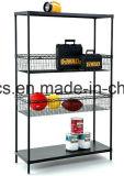Estante de la cesta de alambre de metal del cromo de 3 gradas para visualizar comercial