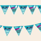 Bandierine poco costose stampate promozionali decorative colorate della stringa dello stendardo per visualizzazione