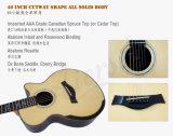 Гитара оригинала круглой задней части решетки 40 дюймов ядровая связывая акустическая