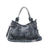 Elegante Cowgirl Rivets Crystals Denim Ladies Bag (MBNO042136)
