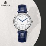 Bevordering Items71044 van het Horloge van de Riemen van het Leer van het Roestvrij staal van het Horloge van het Ontwerp van de manier de Eenvoudige Unisex- Echte