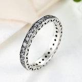 Anello di pietra d'argento della Cina 925 CZ di modo