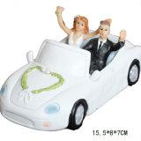 Figurine de mariée et de mariée en résine Décoration de gâteau de mariage romantique