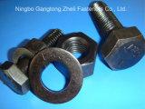 Freie schwere Hex Schrauben des BeispielASTM A490 10.9s