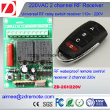 2channel 500m do interruptor de controle remoto RF 220V / 12V/24V