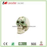Halloweenおよびホーム装飾のためのPolyresinの頭骨ヘッド置物