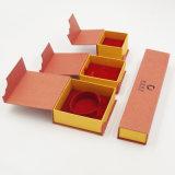 Подгонянная логосом коробка кольца драгоценности картона печатание (J63-E2)