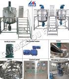 Réservoir de mélange de grattoir avec le homogénisateur Dairly Chmical faisant la machine