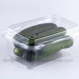 Caixa plástica descartável da caixa transparente da fruta