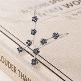 925 de echte Zilveren Oorringen van de Daling van de Bloemen van de Juwelen van Vrouwen Verblindende Lange
