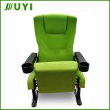 Jy-614安いプラスチック映画館の講議椅子のカップ・ホルダーの講堂の座席