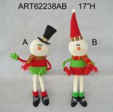 Decoración de Navidad de Santa muñeco de nieve Basket-2asst.