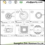 Disipador de calor del perfil de la oxidación anódica/aleación de aluminio de aluminio