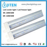 UL 30W ETL Dlc dell'indicatore luminoso 6FT del dispositivo di raffreddamento dell'indicatore luminoso LED del congelatore del tubo T8 LED di forma di v
