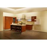 Hauptentwurfs-Furnierholz-Möbel-Küche-Schränke mit Insel