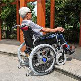 فولاذ [فليب-وب] كرسيّ ذو عجلات معياريّة مع متّكأ ومسند للقدمين قابل للفصل